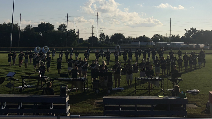 TVHS students did a great job at Marching Band Preview Night!  They learned the whole show during band camp this week!  Thanks to Mr. and Mrs. Marcotte, their awesome staff, and the many parent volunteers who helped make this a success!