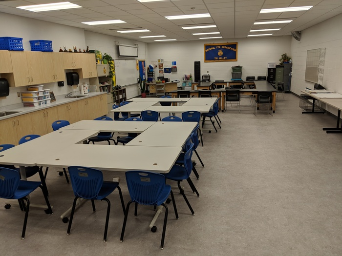 Images of the new spaces at TVHS: Agriculture Lab