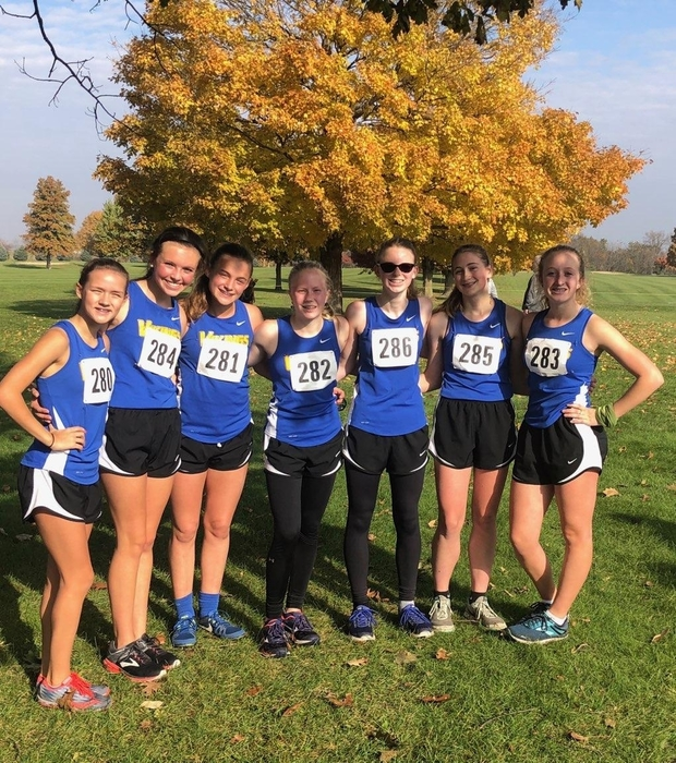 Girls XC at IHSA Sectionals