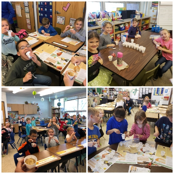 2nd Grade Pumpkin Pie Making
